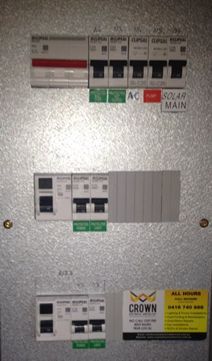 switchboard upgrades and installation by Crown Electrical Services